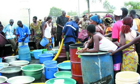 Pénurie d'eau-Abidjan