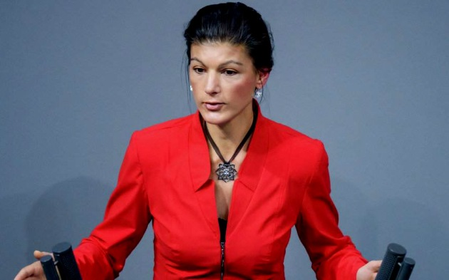 Deputy Chairman of the Left Party Sahra Wagenknecht. Clemens Blian/AFP